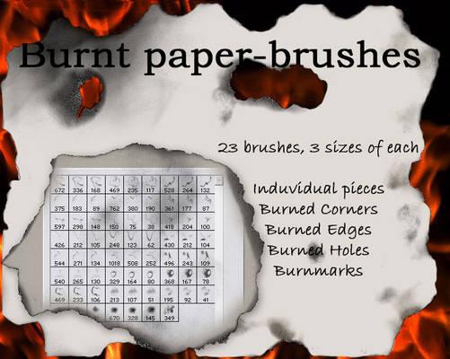 Burnt paper-brushes
