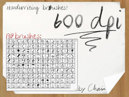 Handwriting Brushes by chain