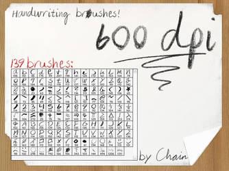 Handwriting Brushes by chain
