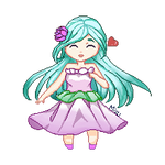Art Trade w/ NorthernLights8- Chibi Water Lily GIF