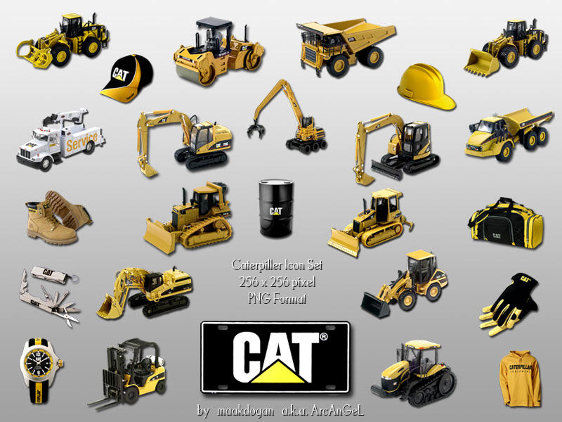 Caterpillar Dock Icons by maakdogan