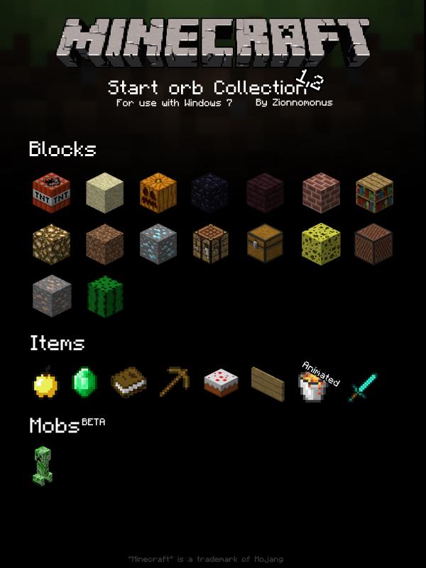 Minecraft StartOrb Collection by Zionnomonus on DeviantArt
