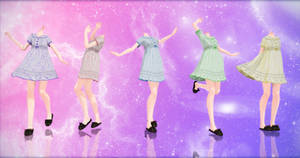 {MMD} Nightgowns {DL} by HarukaSakurai