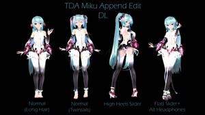 TDA Miku Append Edit {DL} by HarukaSakurai