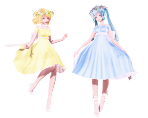 TDA Hanakotoba Miku and Rin {DL}
