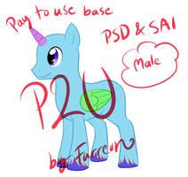 MLP P2U Stallion Base [Sai/Psd] (NOT PAINT FRNDLY) by Furreon