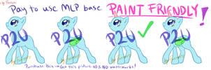 MLP P2U Base #2 [Paint Friendly!] by Furreon