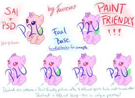 MLP P2U Foal Base [Sai/Psd/Paint Friendly!] by Furreon