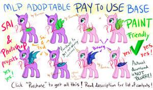 P2U MLP Base - Normal and Bat Pony [Sai/Psd/PAINT] by Furreon