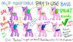 P2U MLP Base - Normal and Bat Pony [Sai/Psd/PAINT]