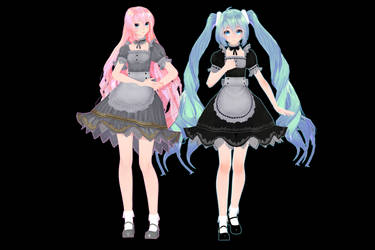 [MMD] TDA Maid Miku / Luka [Close DL] by MMDVocaloidThailand