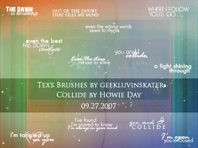 Text Brushes 'Collide'