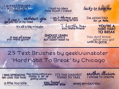 Text Brushes - Chicago Lyrics