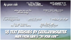 Text Brushes by geekluvinskater