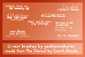Brush Set Two '09 by geekluvinskater
