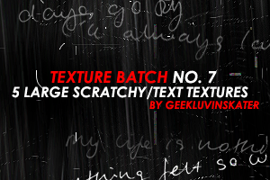 Scratcy Text Textures by geekluvinskater