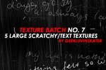 Scratcy Text Textures