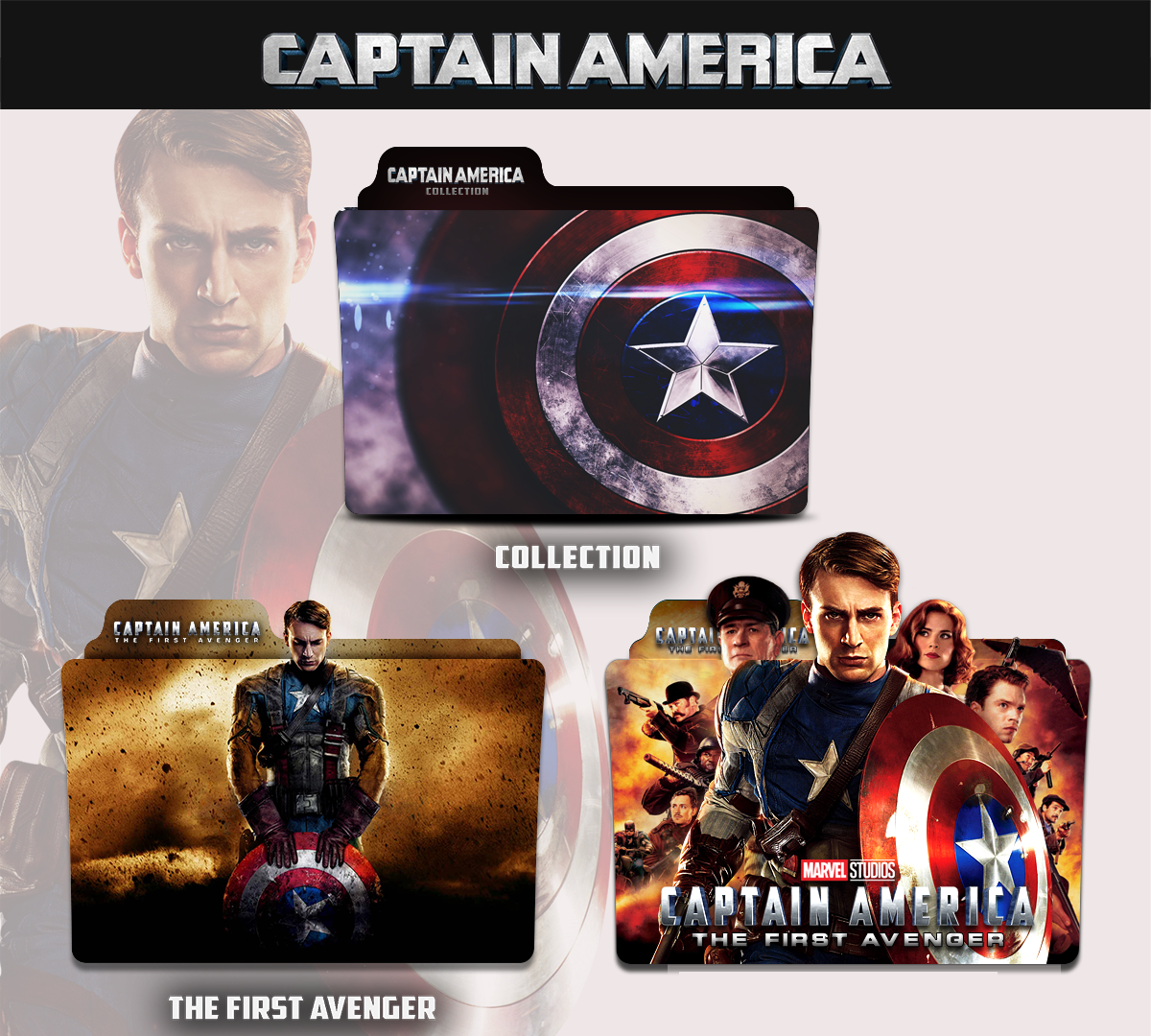 Captain America The First Avenger 2011 Icon Pack By Iamoshmishra On Deviantart