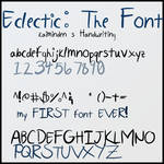 Eclectic- A Handwriting Font