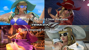 [SFV Inspired] Karin Swimsuit Set