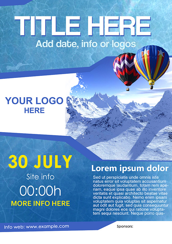 poster template by joel design