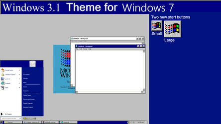Windows 3.1 Theme for Windows 7 by CheezeyGaming