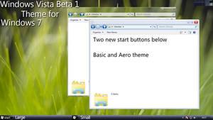 Windows Vista Beta 1 Theme for Windows 7
