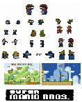 Pixelated Mario Bros Vector by milk-boy-naai