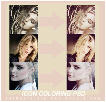 sweet icon coloring psd by FatButterfly