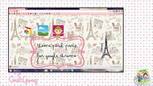 pink paris theme for google chrome by AnahiiGomez