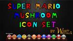 Super Mario Mushroom Icons