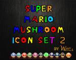 Super Mario Mushroom Icons 2