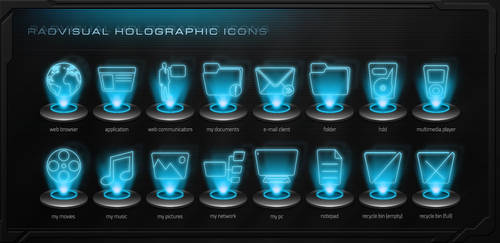 Holographic Icon Pack v.1 by RadVisual