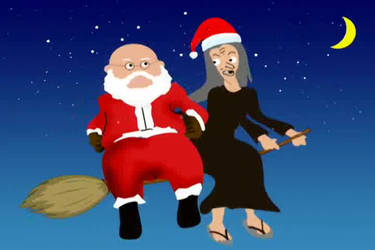 Santa and Witch