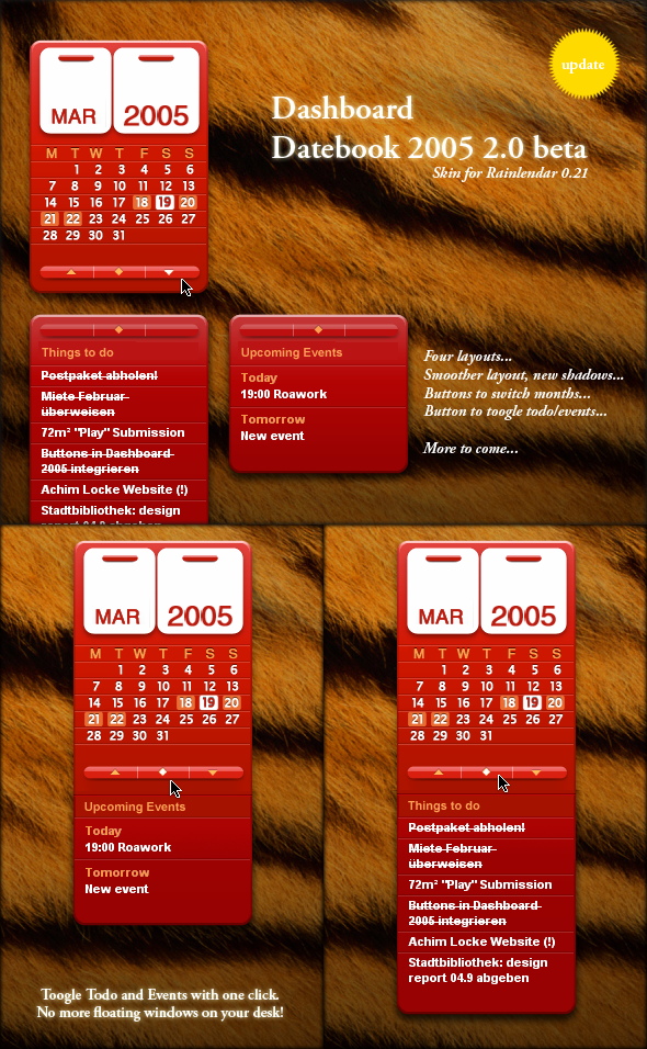 Dashboard Datebook 2005 Update by Blairy
