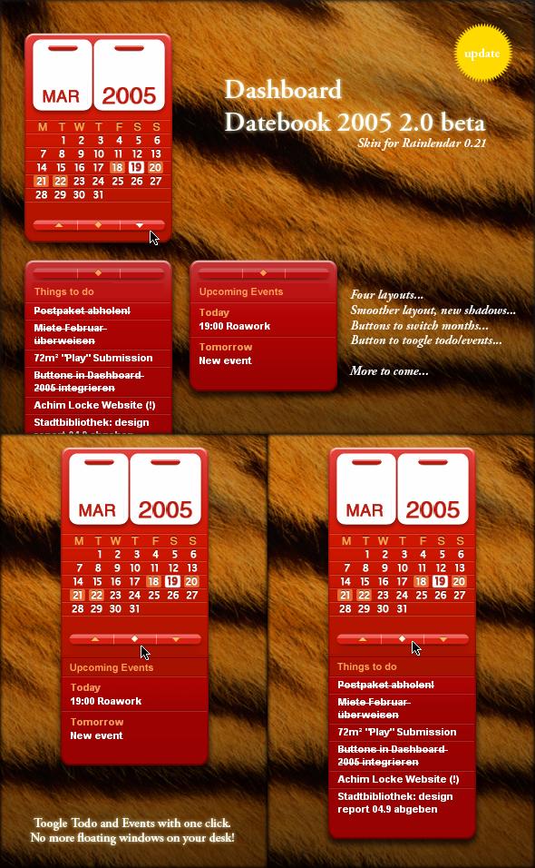 Dashboard Datebook 2005 Update by Blairy