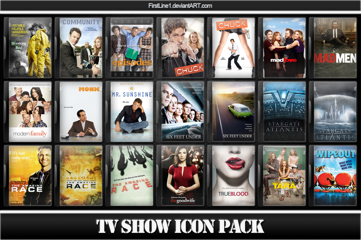 Tv show icon pack 5 by firstline1 on deviantart for Craft shows on tv
