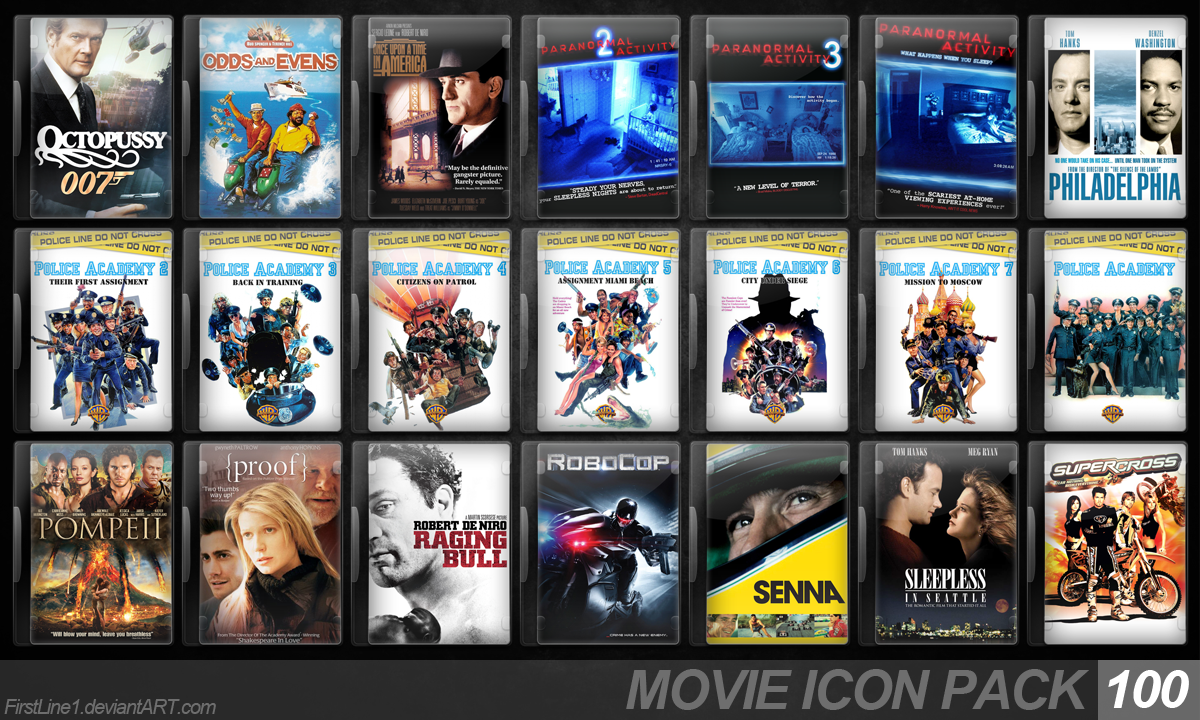 Movie Icon Pack 100 by FirstLine1