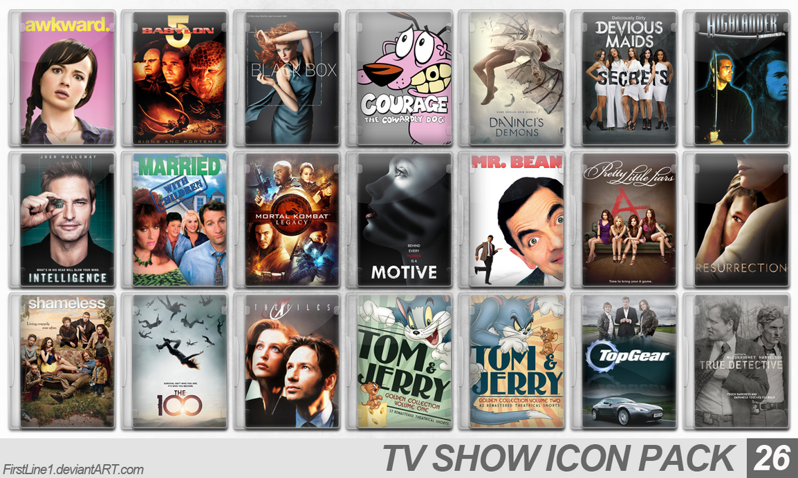 TV Show Icon Pack 26 by FirstLine1