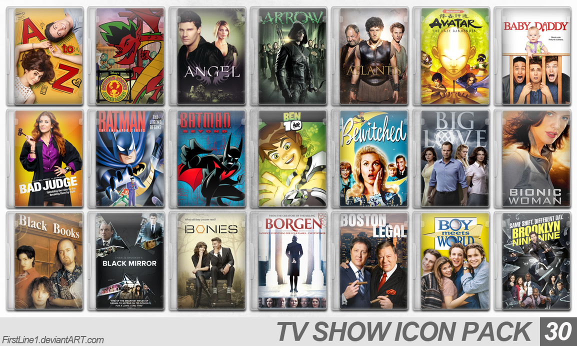 TV Show Icon Pack 30 by FirstLine1