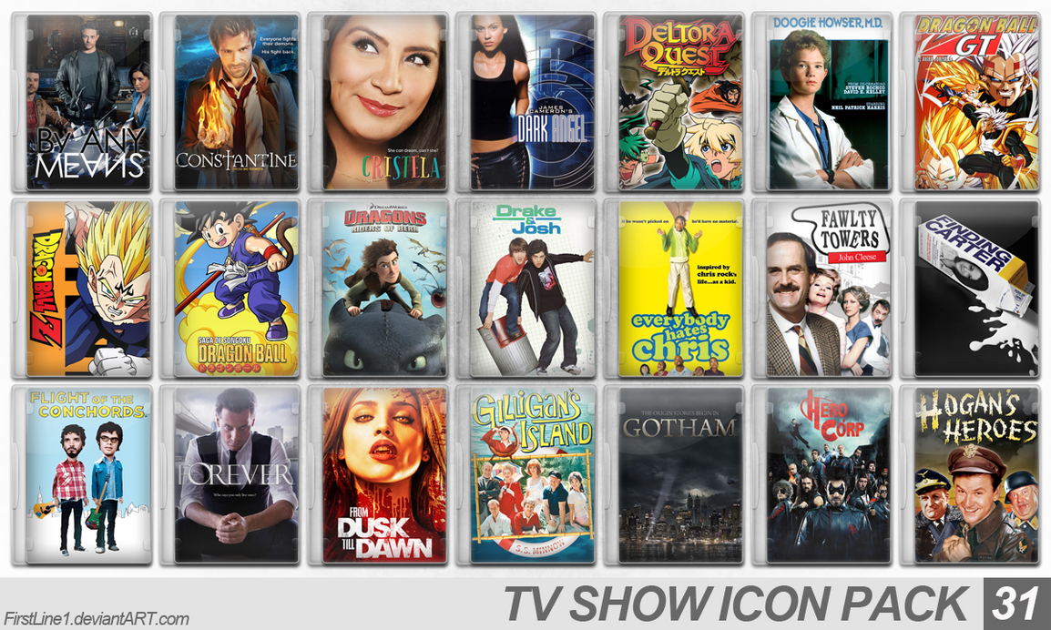 TV Show Icon Pack 31 by FirstLine1
