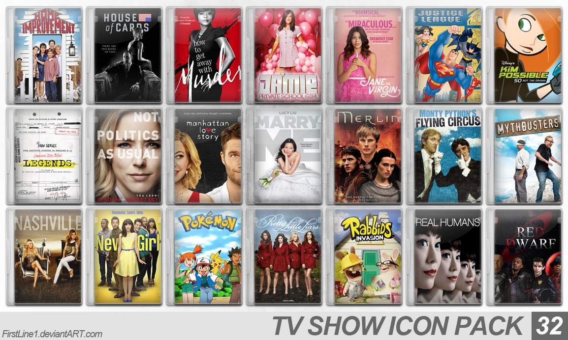 TV Show Icon Pack 32 by FirstLine1
