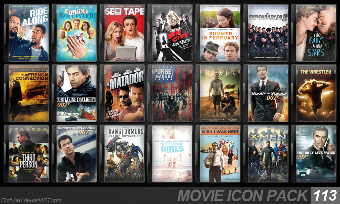 Movie Icon Pack 113 by FirstLine1