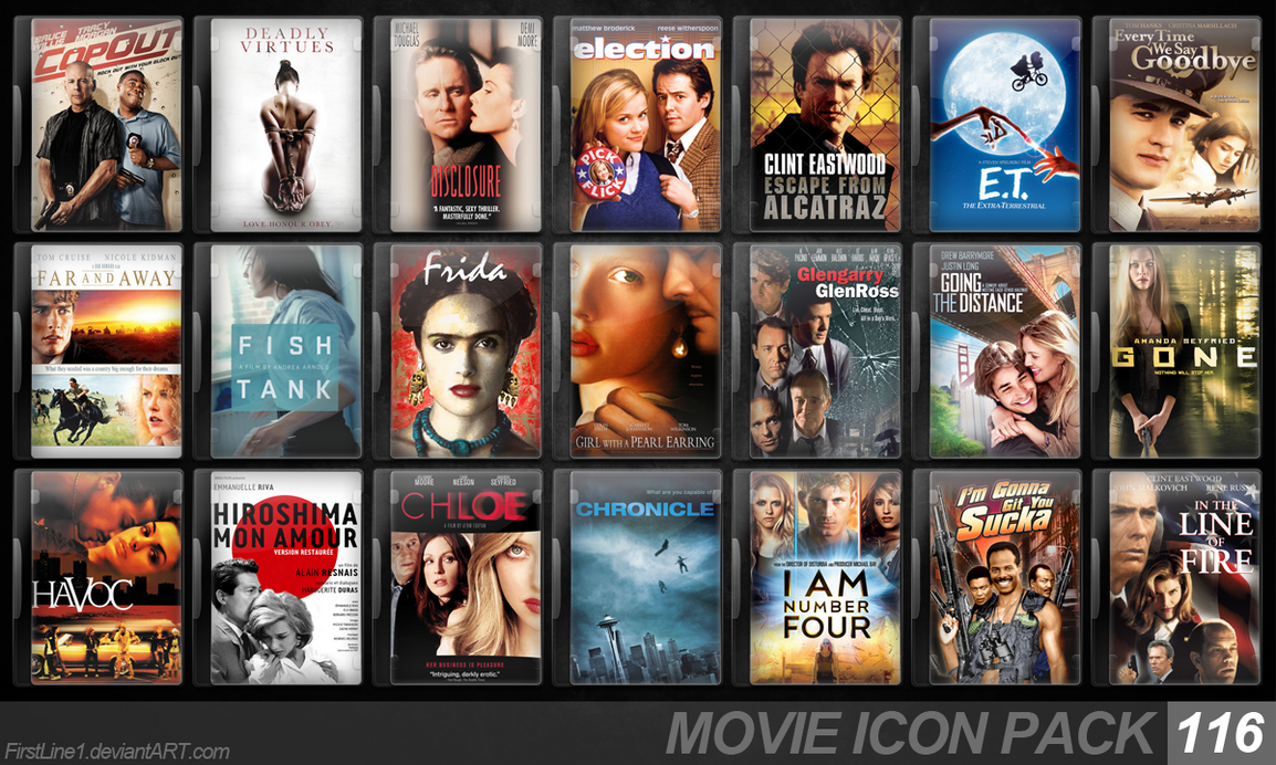 Movie Icon Pack 116 by FirstLine1