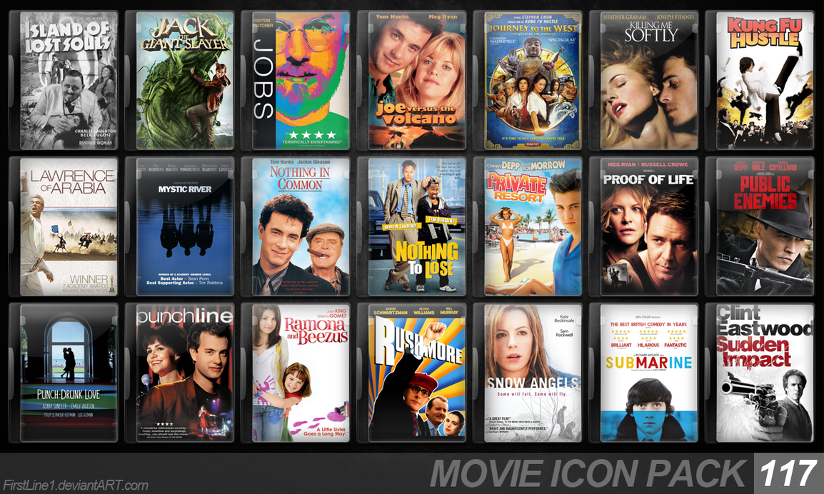 Movie Icon Pack 117 by FirstLine1