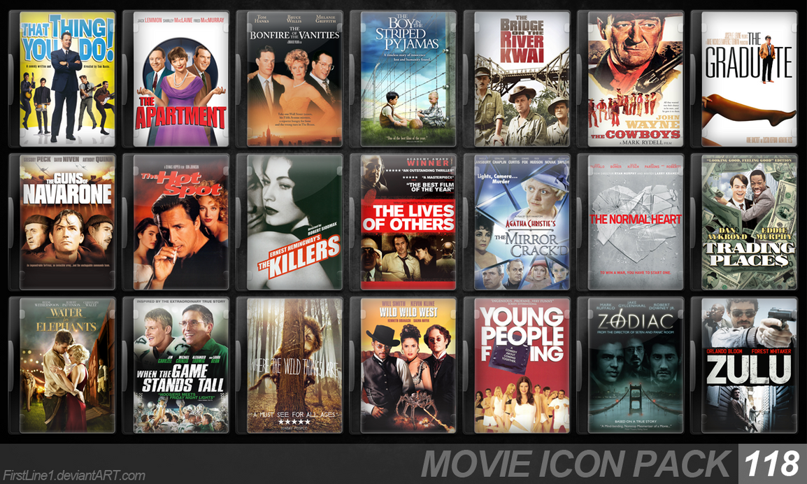 Movie Icon Pack 118 by FirstLine1