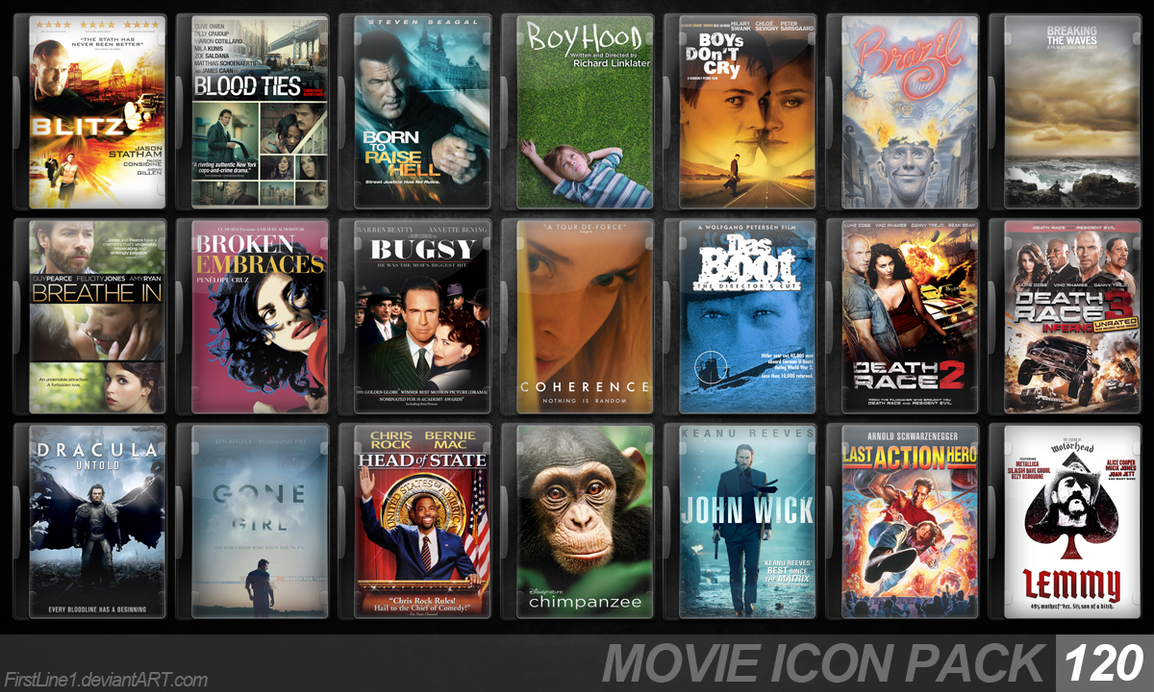 Movie Icon Pack 120 by FirstLine1