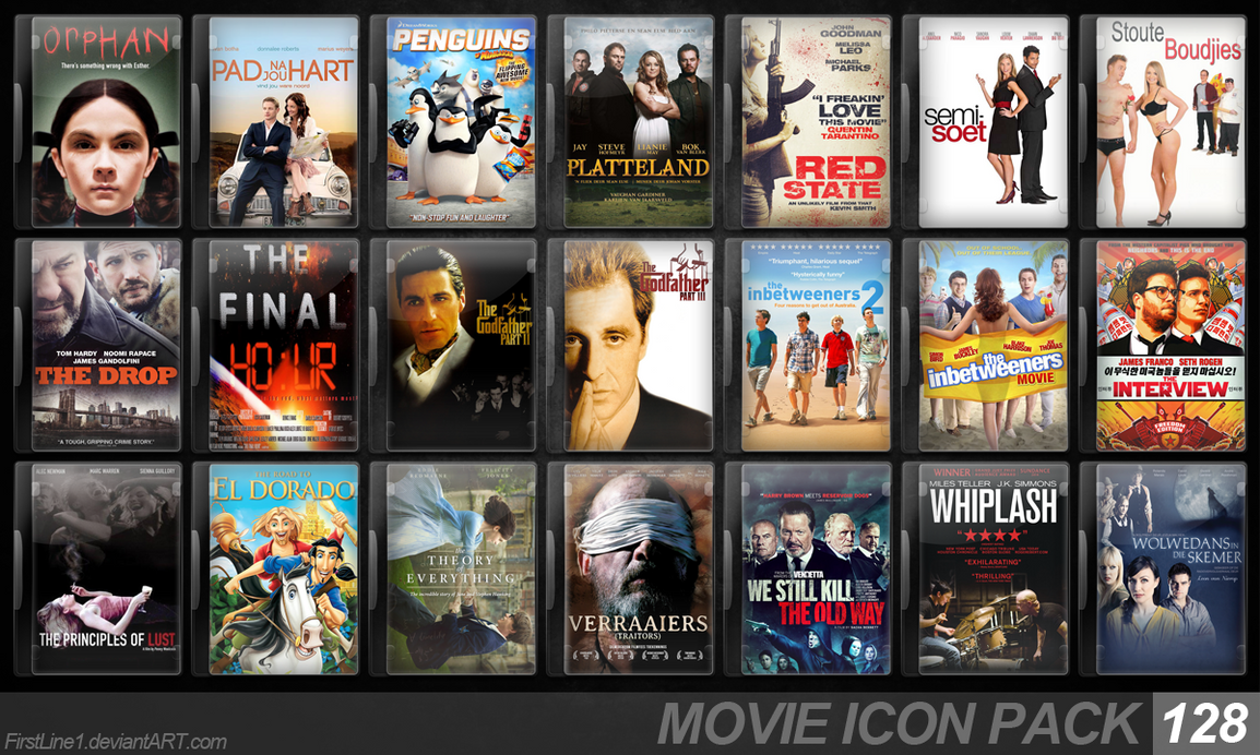 Movie Icon Pack 128 by FirstLine1