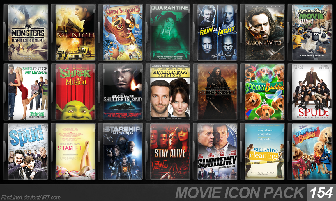 Movie Icon Pack 154 by FirstLine1