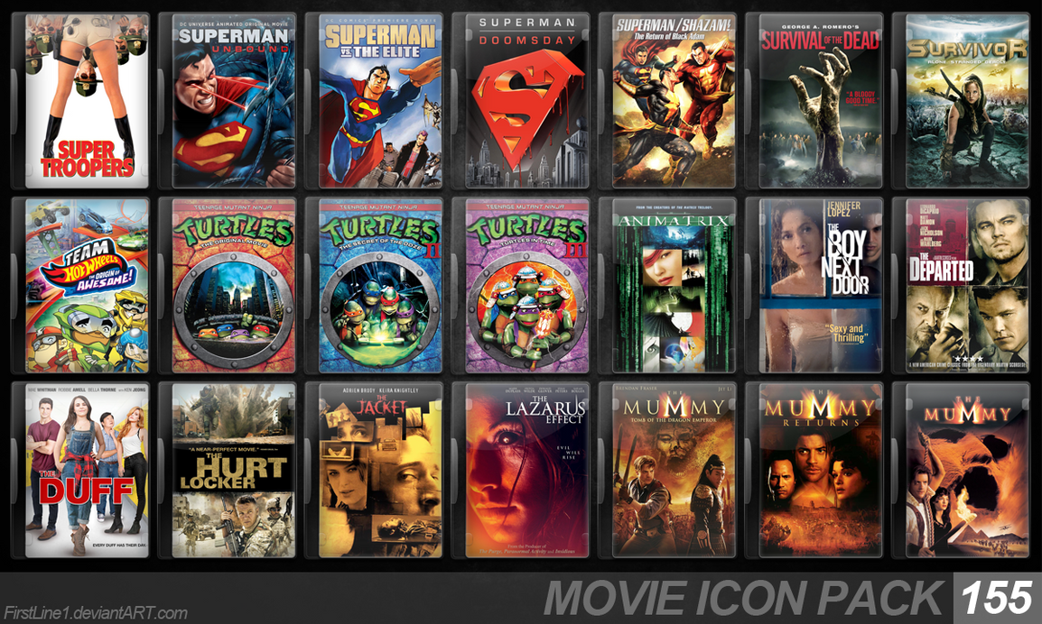 Movie Icon Pack 155 by FirstLine1